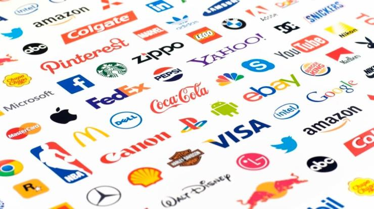 Multiple Branding labels from various corporations - FedEx, Coke, ebay, amazon